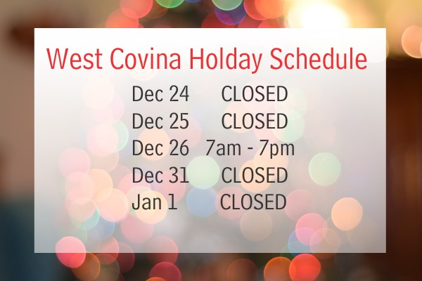 West Covina holiday schedule